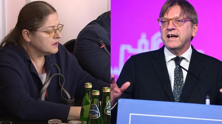 """""""I co nam zrobisz Guy? Wyrzucisz nas z tej swojej Unii?"""". Pawłowicz zwróciła się do Verhofstadta"""